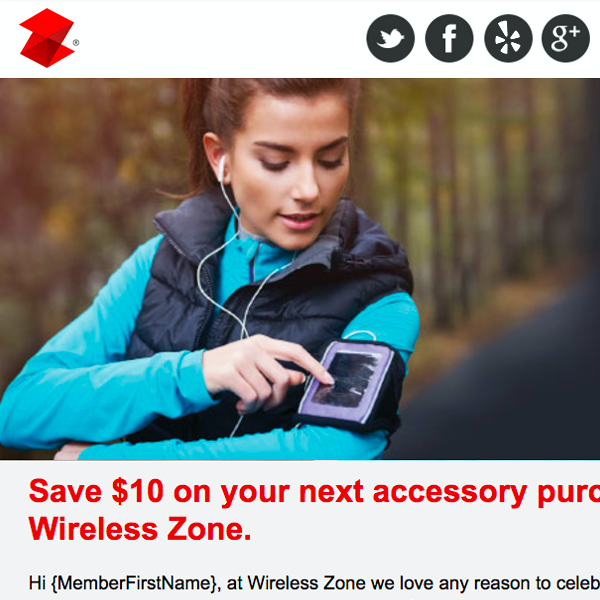 Wireless Zone Email Campaign